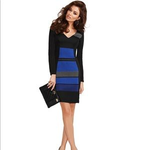 Guess Marciano Dress Body-con V-neck Long Sleeves